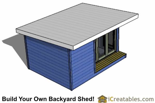 12x16 modern shed top view