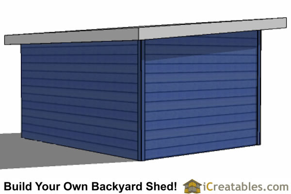 12x16 modern shed right rear