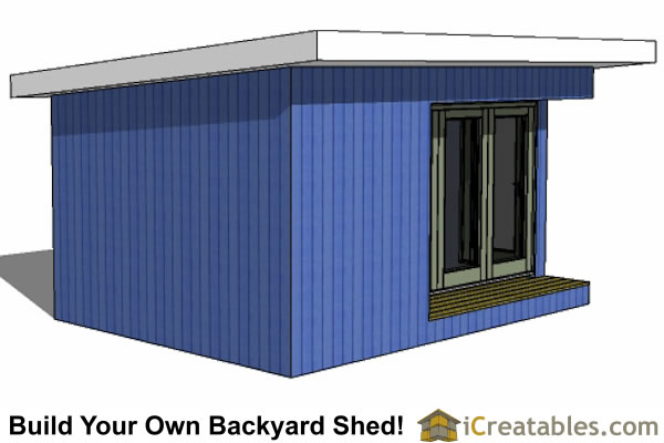 12x16 modern shed right front