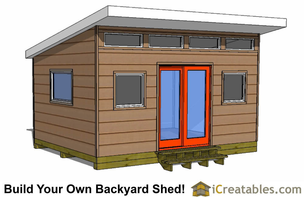 12x16 Studio Shed Plans Center Door: design shed