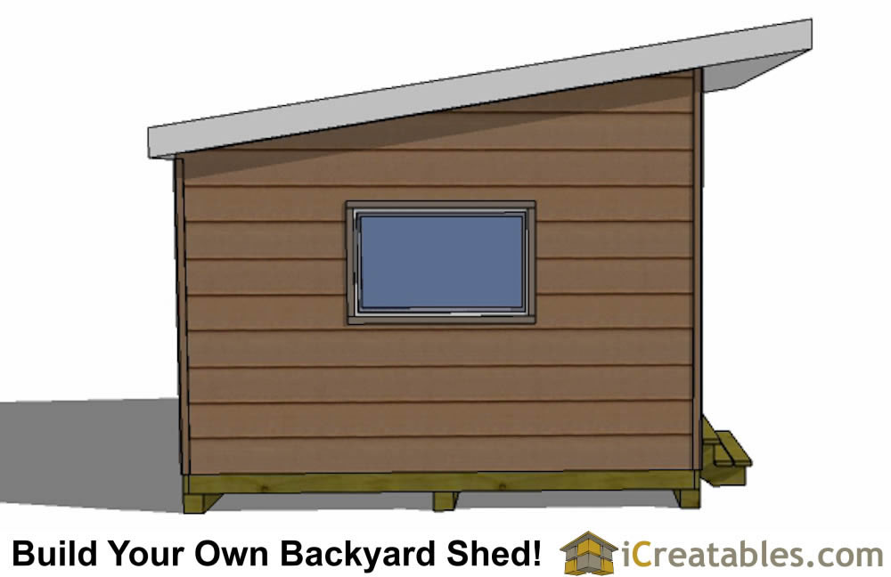 12x16 modern shed right front door