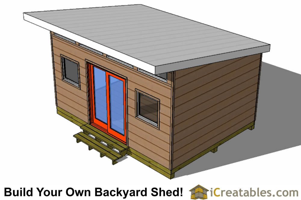 12x16 studio shed plans center door for 8x10 office design