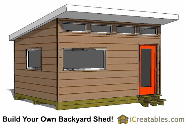 12x16 office shed plans left side