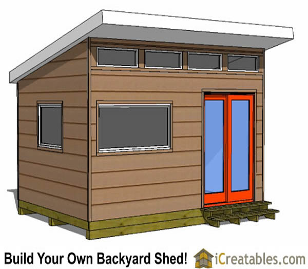 12x16 studio shed option side