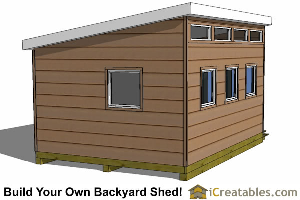 The 12x16 studio shed plans include: