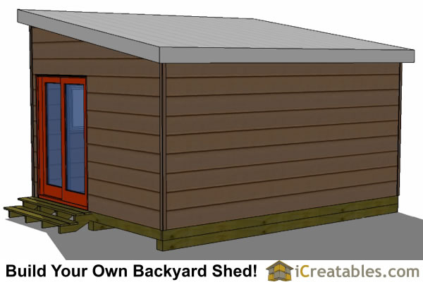 12x16 modern shed plans right