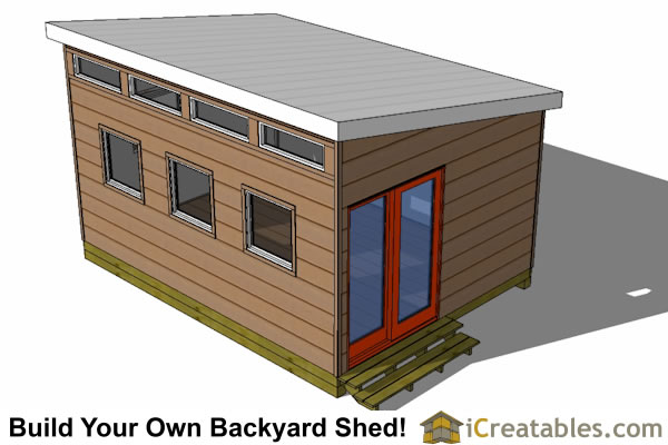 12x16 modern shed plans top