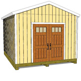 12x16 gable shed plans doors