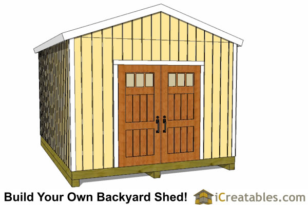 12x16 Storage Shed Plans : Shed plans gable storage