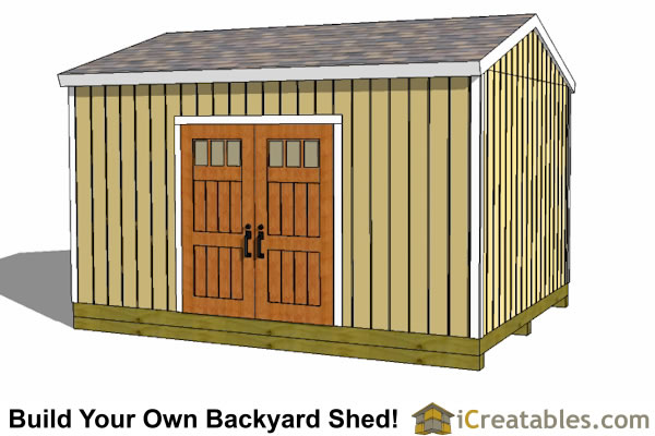 10x16 large shed plans gable