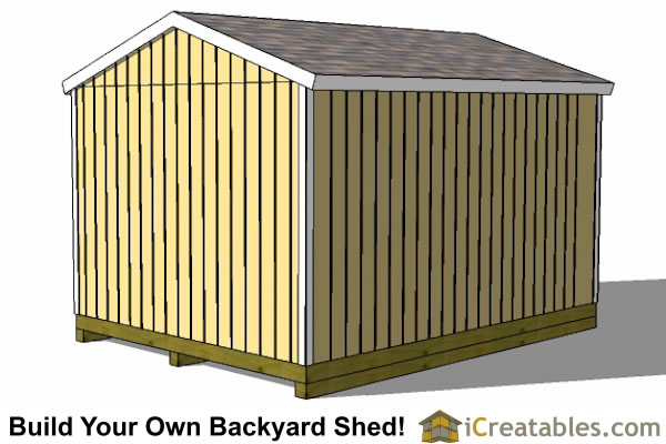 12x16 gable shed plans rear