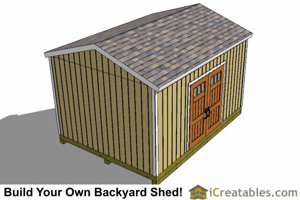 12x16 gable shed plans top