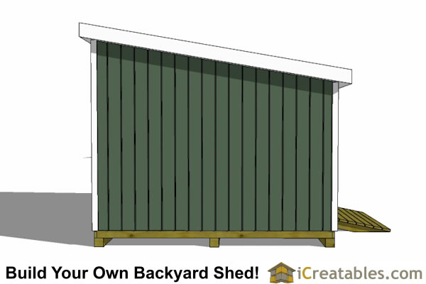 12x16 lean to shed left