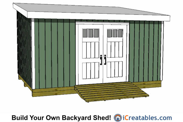 12x16 Lean To Shed