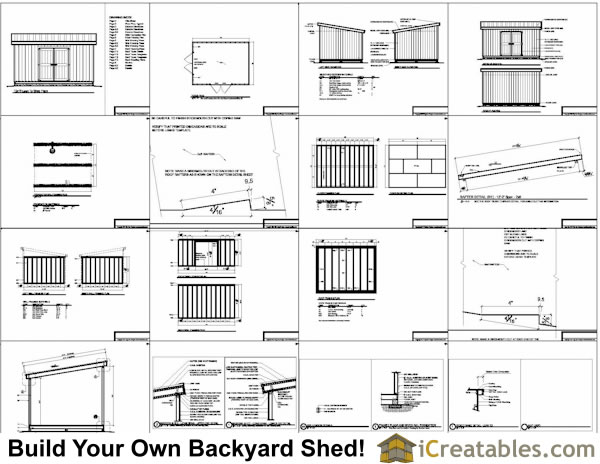 Look 12x16 storage shed plans pdf shed plans for free for Lean to house plans