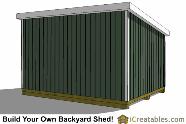 12x16 lean to shed rear