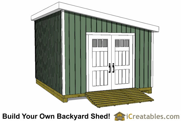 12x16 lean to shed plans door on angled