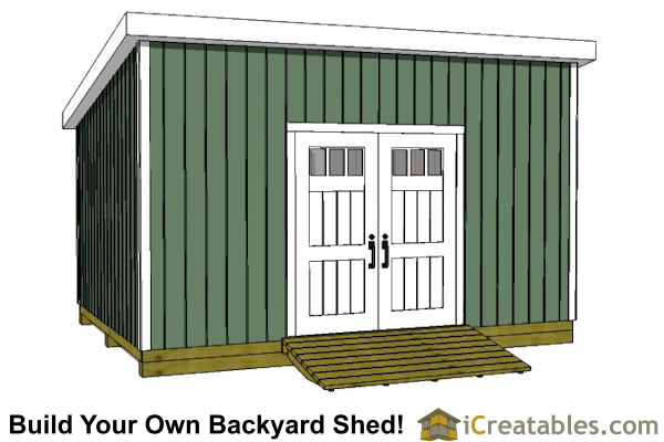 12x16 lean to shed plans door on high side