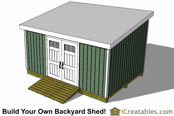 12x16 lean to shed front