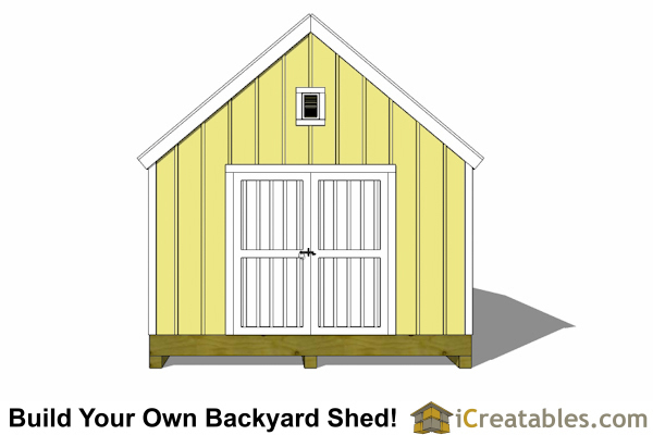 12x18 cape cod style shed end door elevations