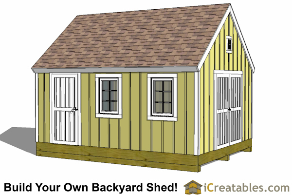 12x18 Cape Cod Style Shed Plans | 12x18 Garden Shed