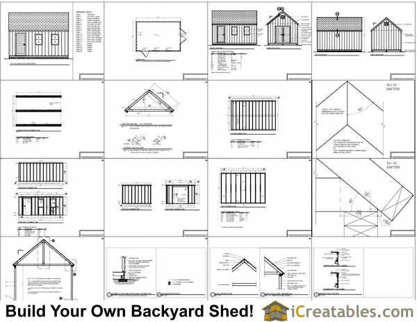 12x18 Cape Cod Style Shed Plans