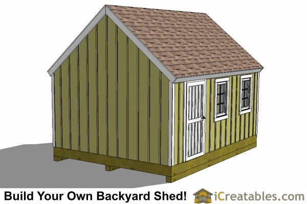 12x18 cape cod style shed left elevations