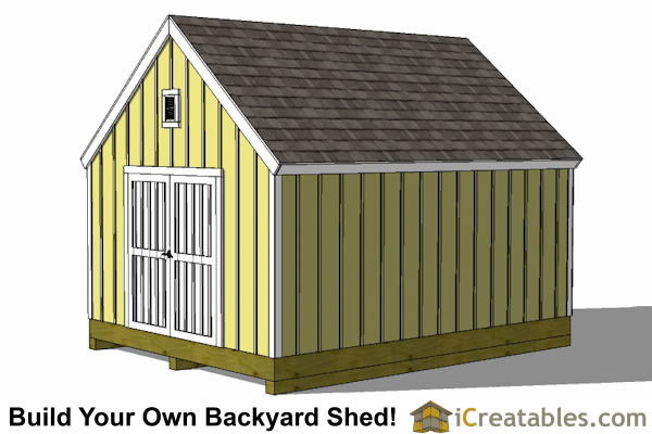 12x18 cape cod style shed right elevation