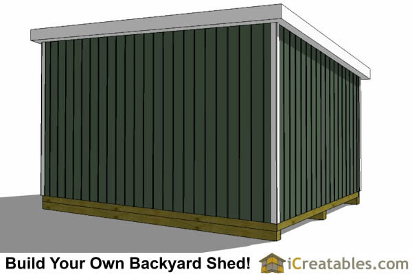 12x18 lean to shed rear