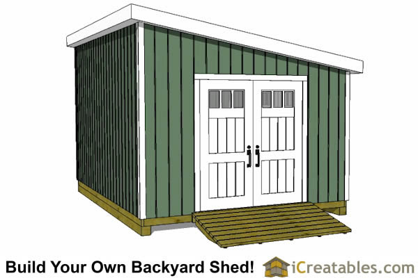 12x18 lean to shed plans door on angled
