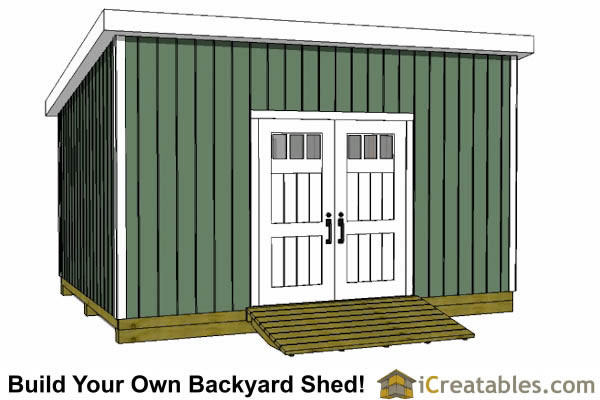 12x18 lean to shed plans door on high side