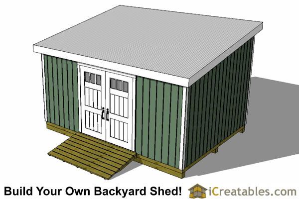 12x18 lean to shed top