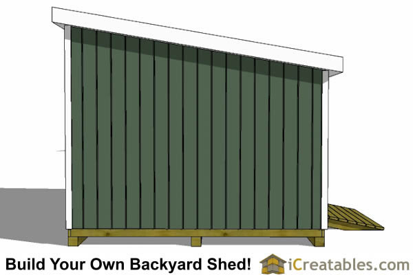 12x18 lean to shed left