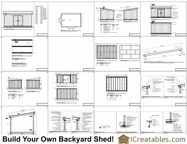 12x18 lean to shed plans 12x16 storage shed plans for Shed plans and material list