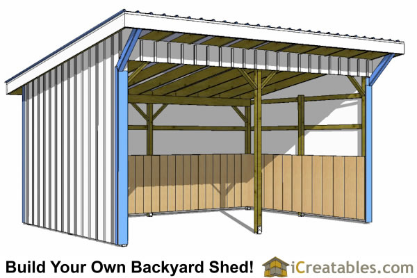 12x20 run in shed