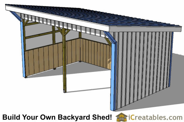 12x18 run in shed plans top view