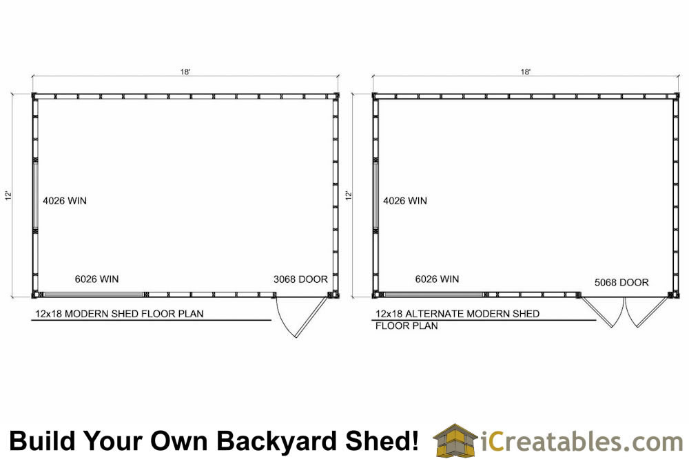 12x18 office shed plans modern shed plans floor plan