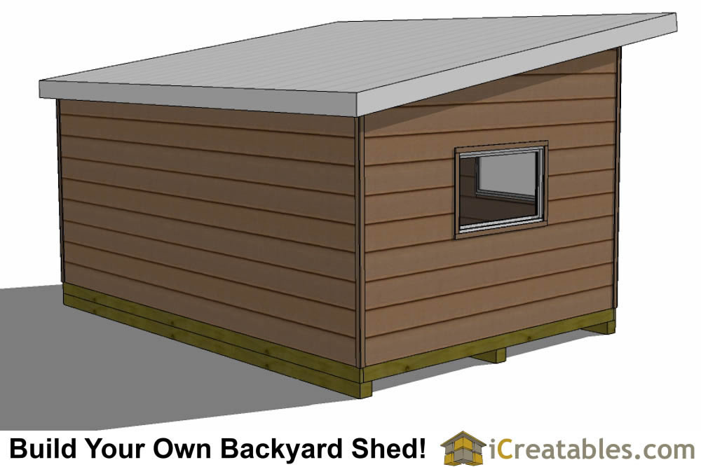 12x16 Studio Shed Plans Side Door