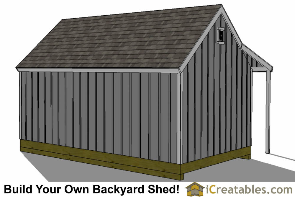 12x16 cape cod garden shed plans with porch end doors