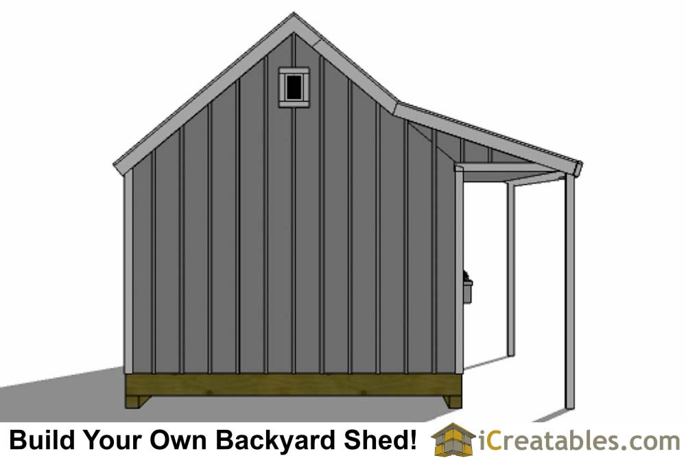 12x16 cape cod garden shed plans with porch top view