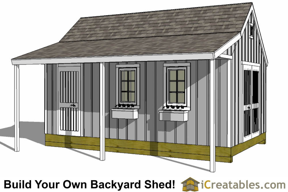 12x16 Cape Cod Garden Shed Plans With Porch