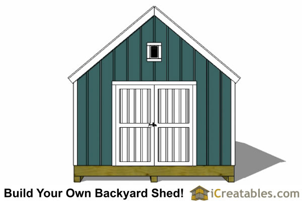 16x20 colonial style shed plans elevation