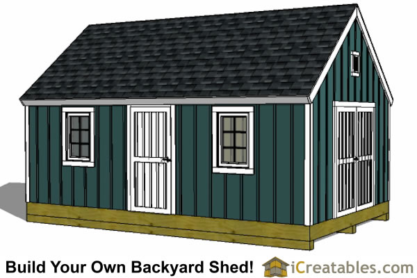 12x16 colonial garden shed plans