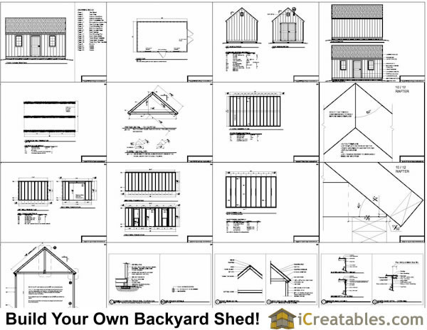 Diy 12x16 shed plans pdf plans free for Shed building plans pdf