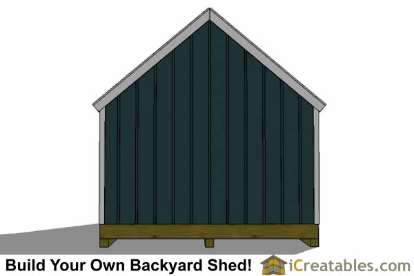 16x20 colonial style shed plans  elevations