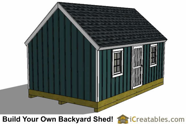 16x20 colonial style garden shed plans left side