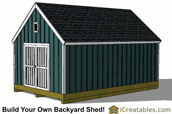 16x20 colonial style garden shed plans