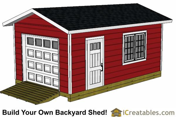 12x20 Shed Garage : Garage shed plans icreatables