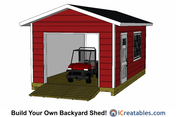12x20 shed with garage door