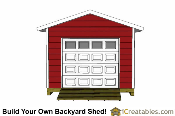 12x20 shed plans with garage door overhead door elevation